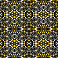 Psychedelic abstraction background, symmetric  pattern / wallpap
