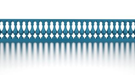Blue banister render