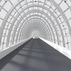 Beautiful interior rendering - Long Corridor