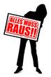 ALLES MUSS RAUS!! - Vektorsilhouette