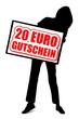 20 Euro Gutschein - Silhouette