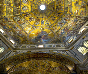 Dome of Baptistery di San Giovanni. Florence, Italy