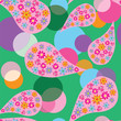 circle, decor, pattern, design, florals,