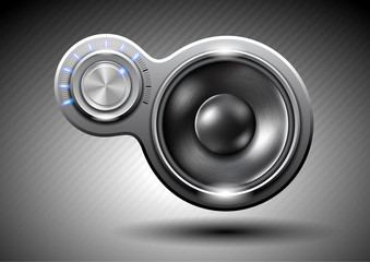 Abstract music speaker
