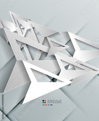 Triangle arrow 3d paper design