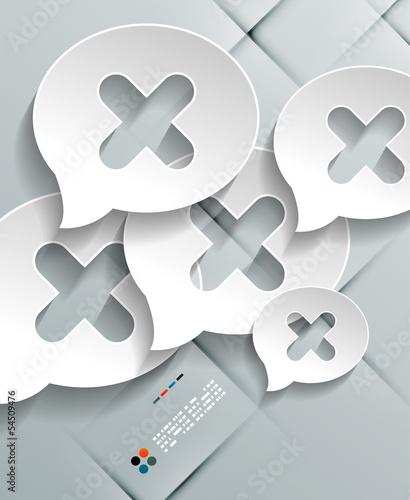Talk concept vector 3d paper design