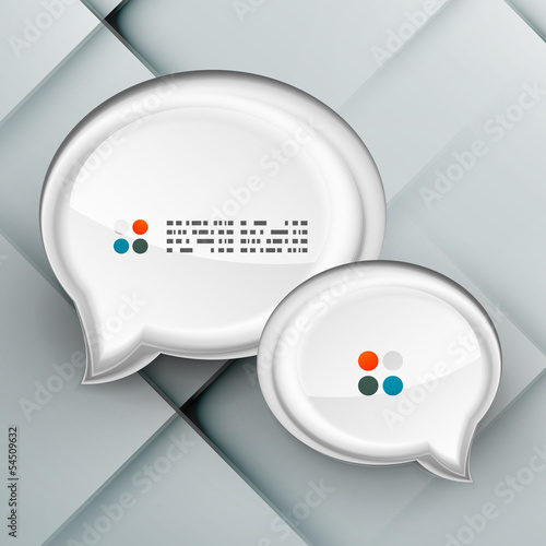 Vector 3d paper speech bubbles