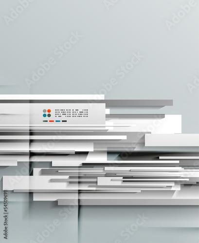 3d vector paper lines design