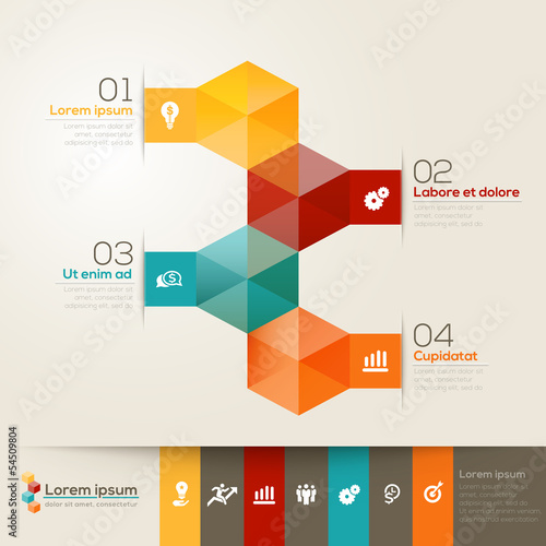 Isometric Shape Design Layout