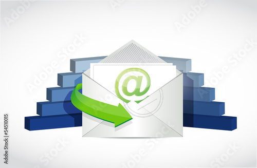 email and business graphs illustration design