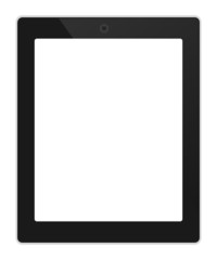Business tablet portrait orientation vector illustration