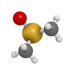 dimethylsulfoxide (DMSO) solvent molecule, chemical structure.