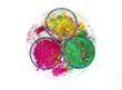 Bowls with vivid colours