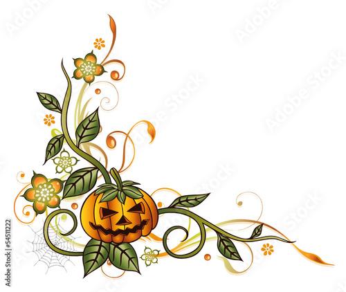 GamesAgeddon - Halloween Ranke mit Kürbis, Blumen und Blättern ...