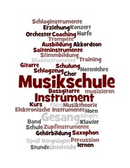"""Wortwolke """"Musikschule"""""""