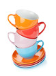 Set of colorful cups