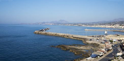 View of the city of Rethymno from Fortezz's fortress