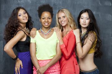 Ethnic four women face