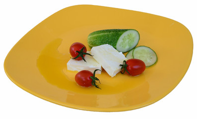 Salad with cheese 2