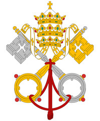 Vatican City coat of arms flag