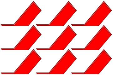 Czerwone kształty