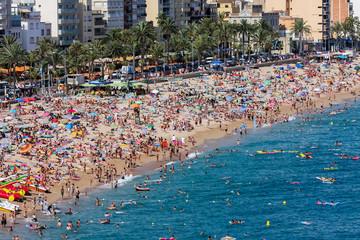 Beach at Lloret de Mar in Spain
