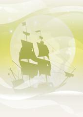 treasure island galleon green