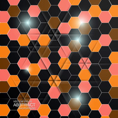 Hexagon background. Vector