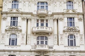 Viennese wall facades, Vienna, Austria