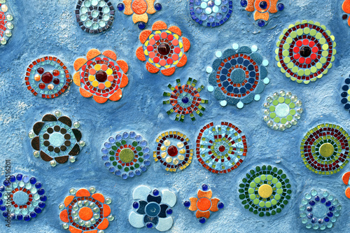 Mosaic flowered background