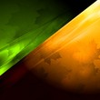 Dark green and orange seasonal background