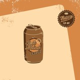 soft drink brown art