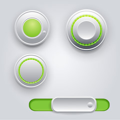 Vector design elements (buttons, slider)