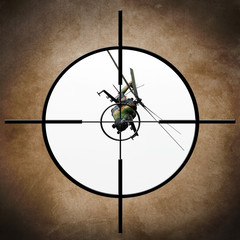 Military target on helicopter