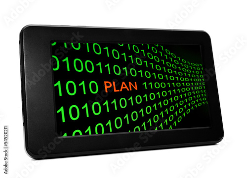 Plan concept on PC tablet
