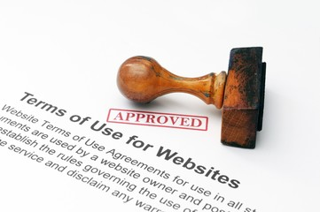 Terms of use for websites - approved