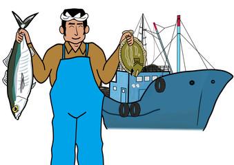 漁師と漁船