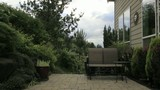 Timelapse of Backyard Patio Garden with Window Reflection  1080p
