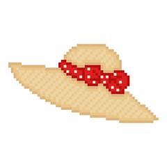 Illustration pixel hat