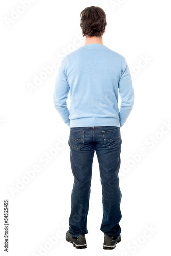Rear view of a man in casuals