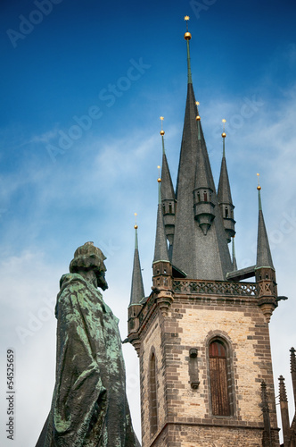 Tyn Church at Old Town Square in Prague