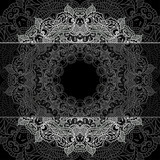 Fototapety Lace pattern background with indian ornament