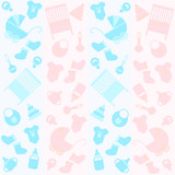 background with icons for newborn