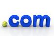Постер, плакат: globe and domain com