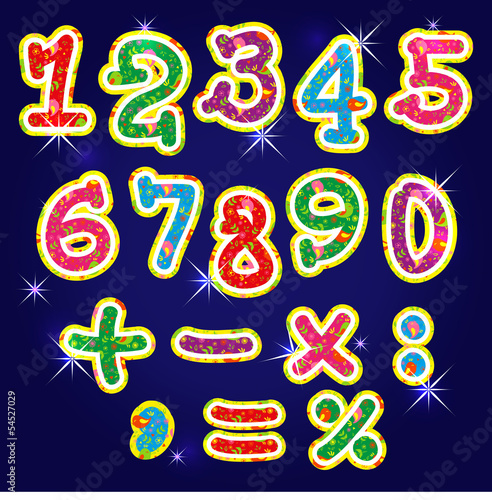 Children's bright alphabet numbers
