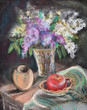 Still-life with a lilac bouquet