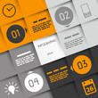 infographic four options with rings and business icons