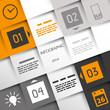 orange square infographic four