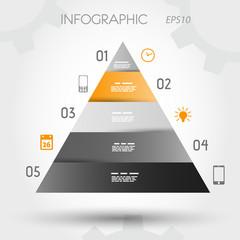 orange infographic pyramid