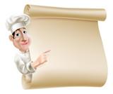 Fototapety Chef scroll menu illustration